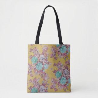 多彩で美しいばら色の花のトートバック トートバッグ