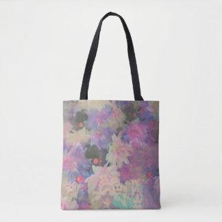 多彩で美しいレースの花のトートバック トートバッグ
