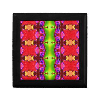 多彩で赤い緑の抽象芸術パターン ギフトボックス