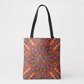 多彩で、明るく継ぎ目が無いパターン トートバッグ