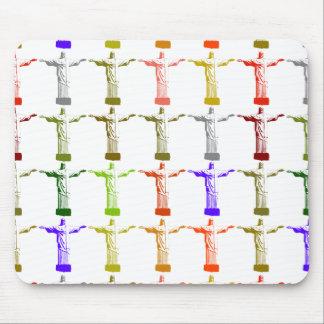 多彩なイエス・キリスト素晴らしいパターン マウスパッド