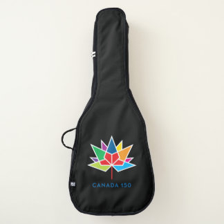 多彩なカナダ150の役人のロゴ- ギターケース