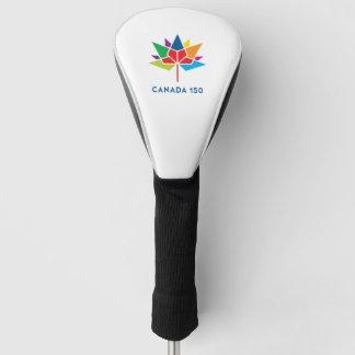 多彩なカナダ150の役人のロゴ- ゴルフヘッドカバー
