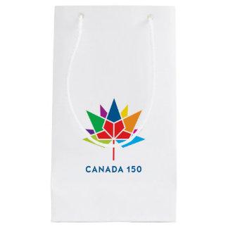 多彩なカナダ150の役人のロゴ- スモールペーパーバッグ