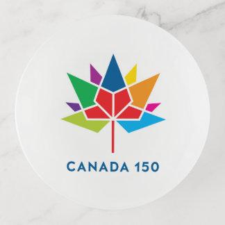 多彩なカナダ150の役人のロゴ- トリンケットトレー