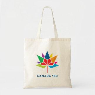 多彩なカナダ150の役人のロゴ- トートバッグ