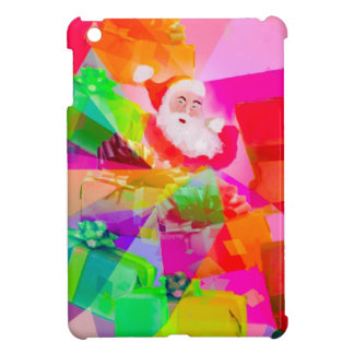 多彩なギフトを持つサンタクロース iPad MINIカバー