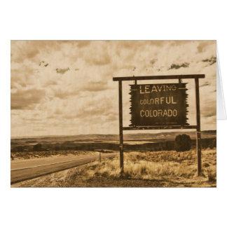 多彩なコロラド州を去ること カード