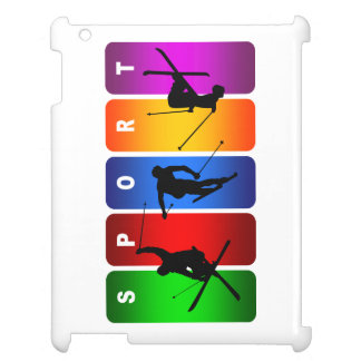 多彩なスキー紋章 iPad CASE