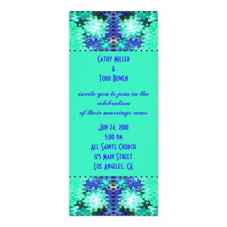 多彩なターコイズの結婚式 カード