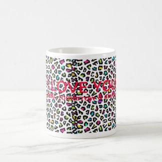 多彩なチータ、私は、…マグ愛します モーフィングマグカップ