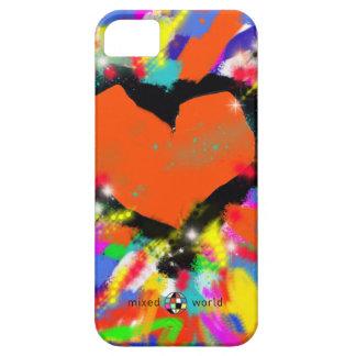 多彩なハート、平和および愛 iPhone SE/5/5s ケース