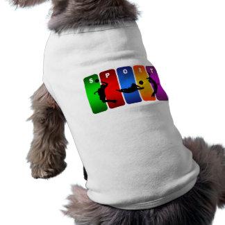 多彩なバレーボールの紋章 ペット服