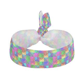 多彩なパターンをくまなく虹の明るいネオン ヘアタイ