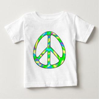 多彩なピースサイン ベビーTシャツ