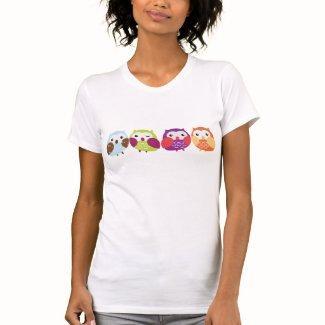 多彩なフクロウ シャツ