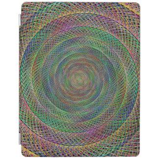 多彩なフラクタルの螺線形 iPadスマートカバー
