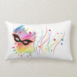 多彩なマスクのデザインの枕 ランバークッション