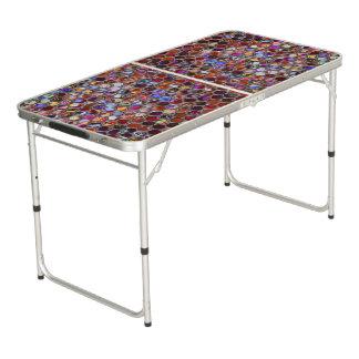 多彩なモザイクが付いているPongのテーブルのプリント ビアポンテーブル