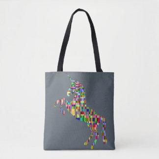 多彩なユニコーンのバッグ トートバッグ