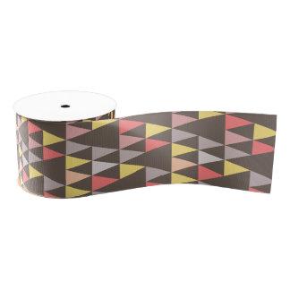 多彩な三角形パターン灰色 グログランリボン