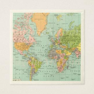 多彩な世界地図のベビーシャワーのコレクションのナプキン スタンダードランチョンナプキン