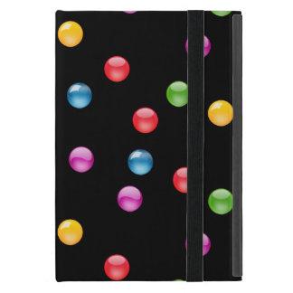 多彩な光沢がある水玉模様の紙吹雪DIYの背景 iPad MINI ケース