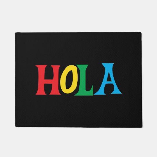 多彩な印刷のデザインのHola ドアマット