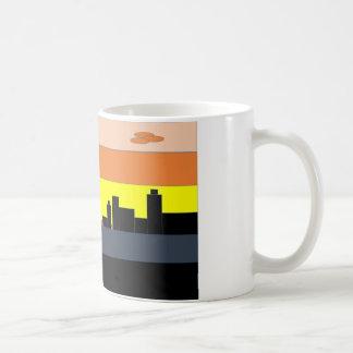多彩な地平線の都市 コーヒーマグカップ
