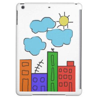 多彩な家が付いているipadの空気箱