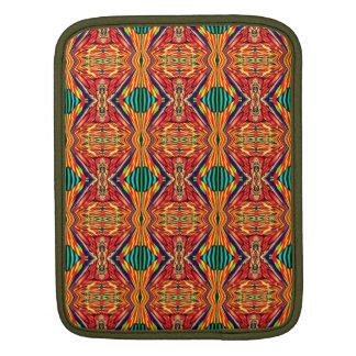多彩な幾何学的設計。 抽象的なパターン iPadスリーブ