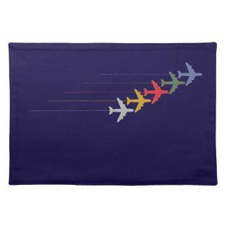 多彩な旅行飛行機 ランチョンマット