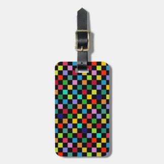 多彩な正方形パターン ラゲッジタグ