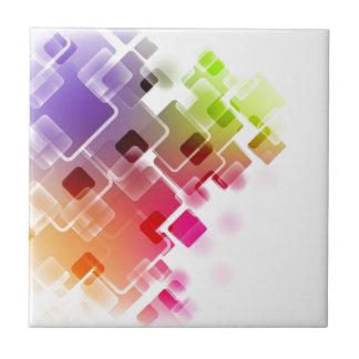 多彩な正方形 タイル