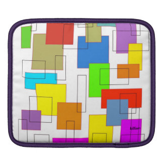 多彩な正方形 iPadスリーブ