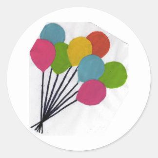 多彩な気球(kkincade12) ラウンドシール