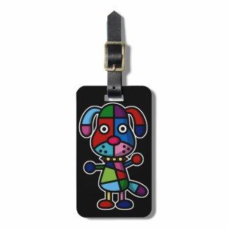 多彩な犬 トラベルバッグ用ネームタグ