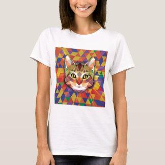 多彩な猫 Tシャツ