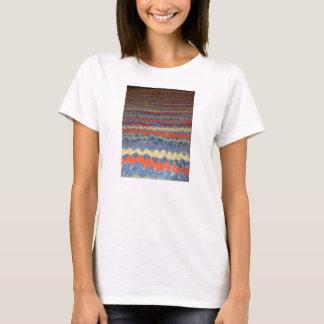 多彩な生地およびデニム Tシャツ