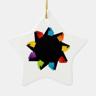 多彩な矢が付いている星 セラミックオーナメント