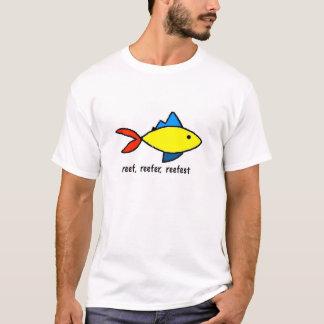 多彩な礁の魚の風刺漫画のTシャツ Tシャツ