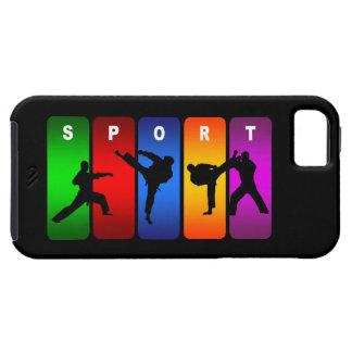 多彩な空手のiPhone 5の箱 iPhone SE/5/5s ケース