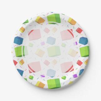 多彩な立方体 ペーパープレート