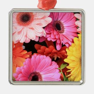 多彩な結婚式の花束のガーベラ メタルオーナメント