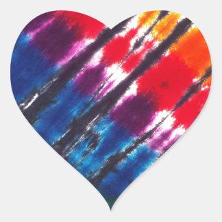 多彩な絞り染め ハートシール
