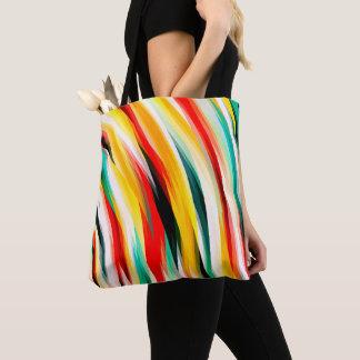 多彩な縞模様 トートバッグ