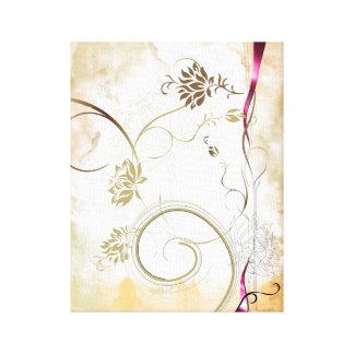 多彩な花のキャンバス キャンバスプリント
