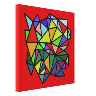 多彩な芸術の幾何学的な三角形 キャンバスプリント