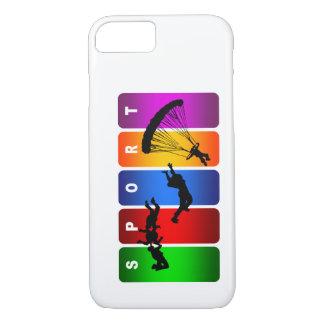 多彩な落下傘で降りるiPhone 7の箱 iPhone 8/7ケース