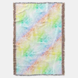 多彩な虹の雲は曇っているカスタマイズか、またはとどまります スローブランケット